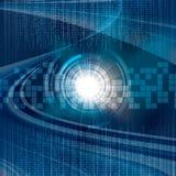 Abstract tech binary blue Royalty Free Stock Photos