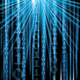 Abstract tech binary blue Royalty Free Stock Photos