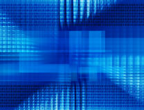 Abstract tech binary blue background Stock Image