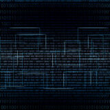 Abstract tech binary blue matrix background Stock Photo