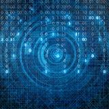 Abstract tech binary blue matrix background Royalty Free Stock Photos