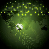 Abstract tech binary green global background Royalty Free Stock Photo
