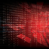 Abstract tech binary red background Royalty Free Stock Photo