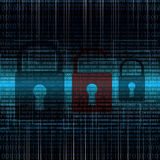 Abstract tech binary security blue background Stock Image