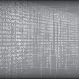Abstract tech binary silver background Stock Images