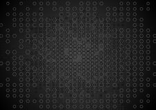 Abstract tech black hexagons texture background Stock Image