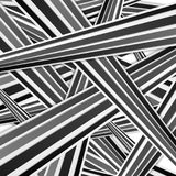 Abstract tech black and white striped pattern. Corporate modern vector background Stock Images