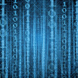Abstract tech blue binary background Royalty Free Stock Photo