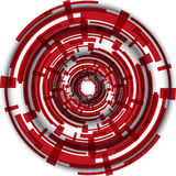 Abstract tech circle with wave on white background. Eps10 Royalty Free Stock Photo