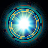 Abstract tech circles on abstract background Royalty Free Stock Photography