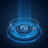 Abstract tech circles background. Blue abstract tech circles background design with light effect Stock Photos