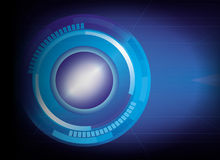 Abstract tech circles background. Blue abstract tech circles background Stock Photo
