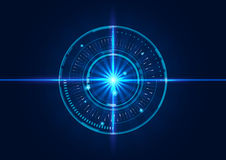 Abstract tech circles background design with light effect Royalty Free Stock Photography
