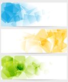 Abstract tech colorful banners Royalty Free Stock Photos