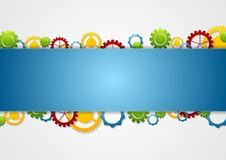 Abstract tech corporate background with gears Royalty Free Stock Photos