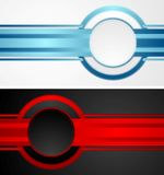 Abstract tech corporate banners Royalty Free Stock Photos