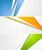 Abstract tech corporate banners Stock Photo