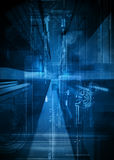 Abstract tech design. Blue abstract tech design background Stock Photo