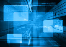 Abstract tech design. Futuristic abstract blue tech design Royalty Free Stock Photo