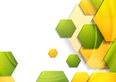 Abstract tech geometric background with hexagons Royalty Free Stock Photos