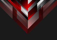 Abstract tech geometric red black background Royalty Free Stock Image