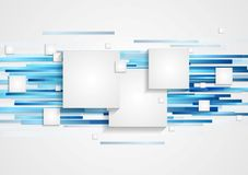 Abstract tech geometry background Royalty Free Stock Images