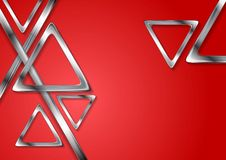 Abstract tech geometry metallic triangles Royalty Free Stock Images