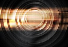 Abstract tech glowing background with circles Royalty Free Stock Photo