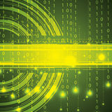 Abstract tech green binary background Stock Images