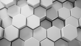 Abstract tech honeycomb background. 3D render Royalty Free Stock Photo
