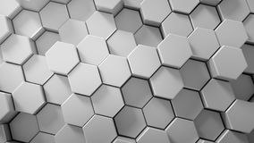 Abstract tech honeycomb background. 3D render Stock Image