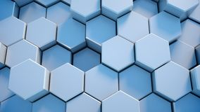 Abstract tech honeycomb background. 3D render Royalty Free Stock Photos
