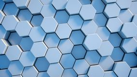 Abstract tech honeycomb background. 3D render Stock Images