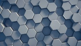 Abstract tech honeycomb background. 3D render Royalty Free Stock Photography