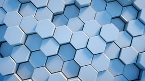 Abstract tech honeycomb background. Stock Photography