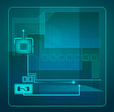 Abstract tech illustration. Royalty Free Stock Images