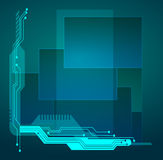 Abstract tech illustration. Stock Images
