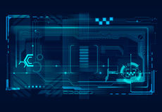 Abstract tech illustration. Royalty Free Stock Photo