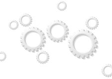Abstract tech paper gears mechanism Royalty Free Stock Images