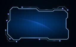 Abstract tech sci fi hologram frame template design background. Eps 10 vector royalty free illustration