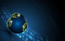 Abstract tech sphere digital innovative concept background Royalty Free Stock Photography