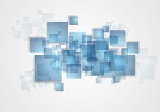 Abstract tech squares design Stock Photo