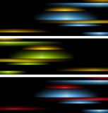 Abstract tech striped banners Royalty Free Stock Photo