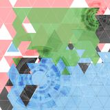 Abstract tech triangles vector background Stock Photos