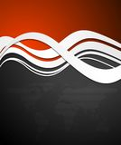 Abstract tech vector wavy background Royalty Free Stock Photography