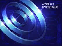 Abstract technical background royalty free illustration