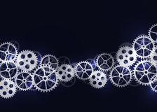 Abstract technical background with gears. Stock Photo