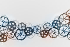 Abstract technical background with gears. Royalty Free Stock Image