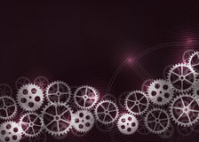 Abstract technical background with gears. Royalty Free Stock Photography