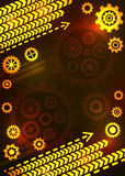 Abstract technical background with gears. Abstract technical background. Metal gears, wheels. Vector illustration Stock Image